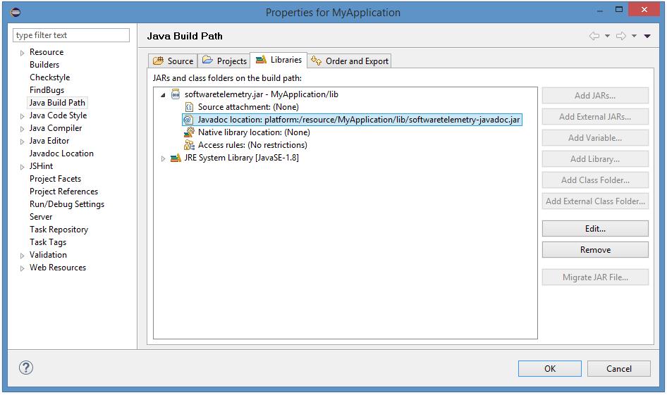 Java API Reference